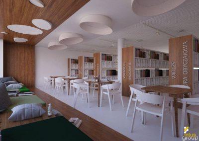 Projekt wnętrz Biblioteki │ Pilchowice