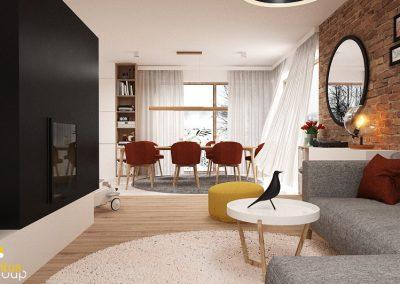 Projekt salonu i kuchni │ Gliwice
